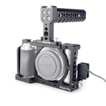 Cable-Clamp MAGICRIG Microphone Top-Handle Monitor Dslr-Camera-Cage with HDMI for