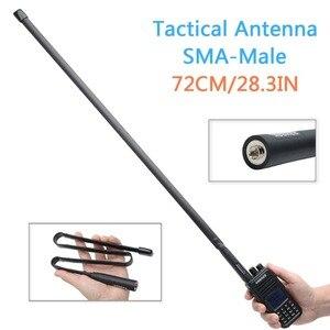 Image 1 - Abjessie conector macho de banda Dual, antena táctica plegable para Yaesu TYT Wouxun Walkie Talkie, 72cm/28,3 pulgadas de longitud, 144/430Mhz