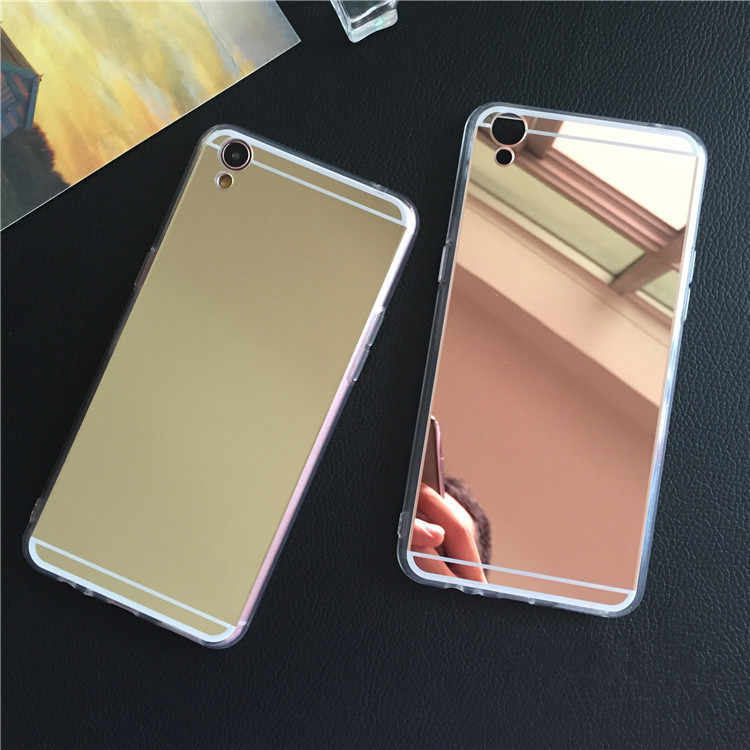 Shockproof Mirror TPU Case For Oppo A3 A1 A83 A79 A71 A51 F3 F1 F1S A37 A33 A31 A53 A35 A59 R7 R9 R9s R11 R11s Plus Cover Fundas