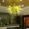 Выдувное стекло люстра освещение элегантная красивая ручная выдувная стеклянная вилла освещение люстра