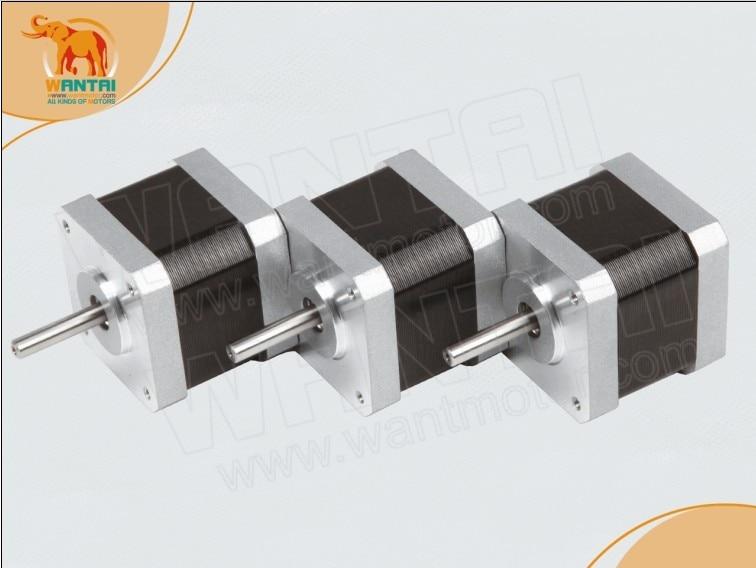 цена на Wantaimotor Best sellers! 3pcs NEMA17 78 Oz-in CNC stepper motor stepping motor/1.7A,0.9degree, 2phase,3D Printer 42BYGHM809