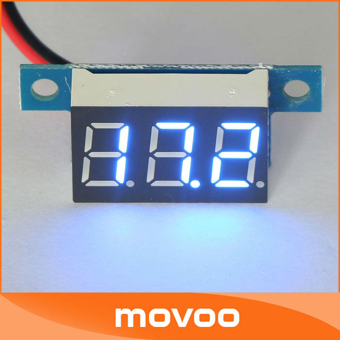 Small Digital Voltmeters Dc : Small digital voltmeter dc v blue led voltage
