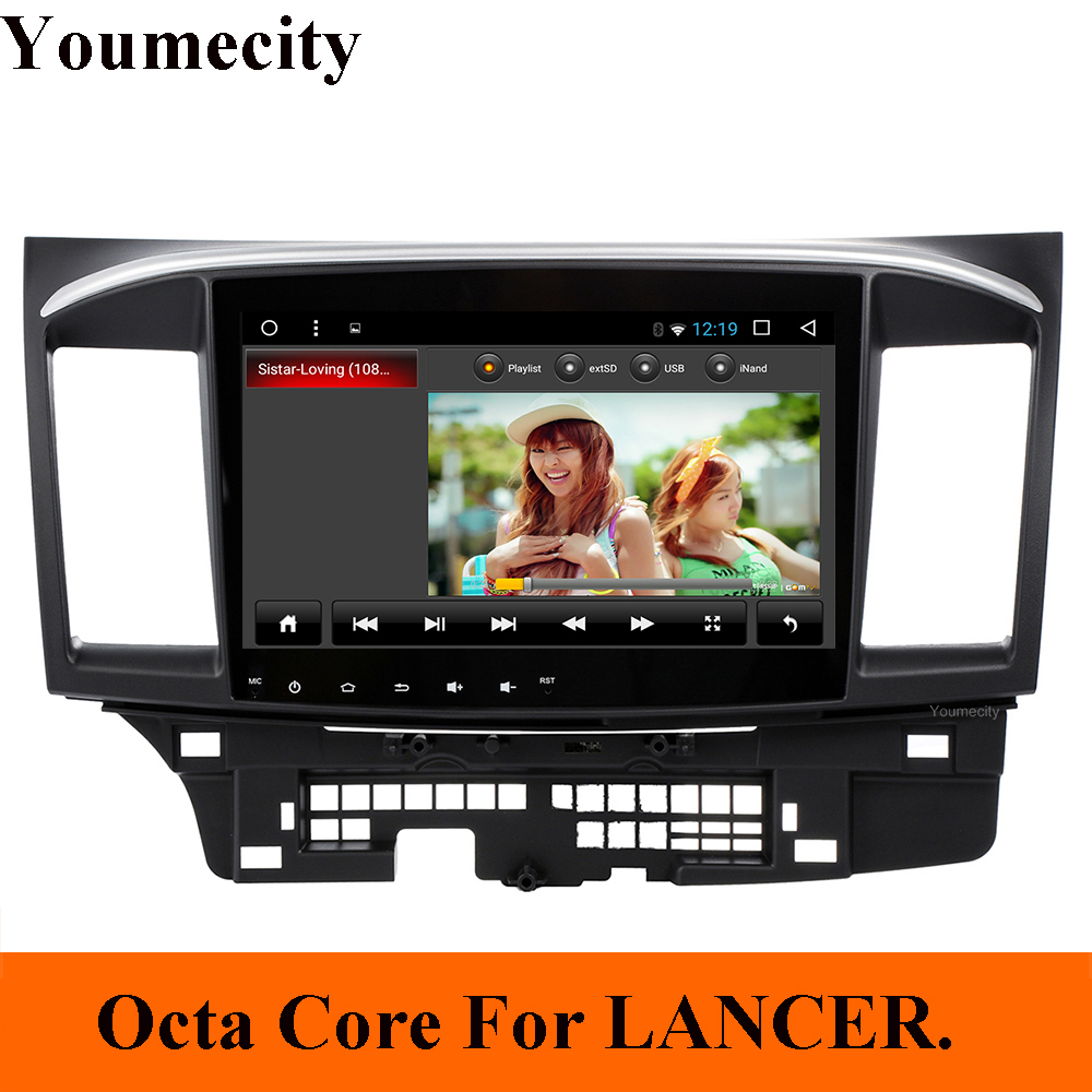Youmecity Octa Core Android 8 1 Car Dvd Gps Player For MITSUBISHI LANCER 2008 2016 9