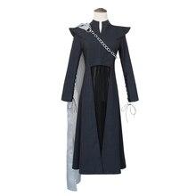 купить Daenerys Targaryen Cosplay Game of Thrones Season 7 Cosplay Costume Outfit Halloween Adult Women Dress Party Costume Fancy Suit по цене 4712.24 рублей