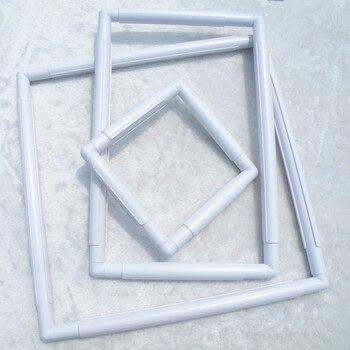 Plastic snap frame Vierkante hoepel voor kruissteek kralen borduren Tool DIY handwerken