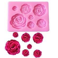 1 adet gül çiçek silikon kalıp dekorasyon aracı, çikolata kalıp, kek kalıp, plastik kalıp, şeker kalıp, mutfak eşyaları