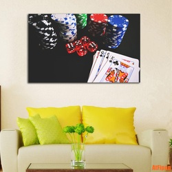 Chip Poke Painting Print Poster Room Decor Canvas Art Modern Picture Printing Home Decoration Unframed Casino