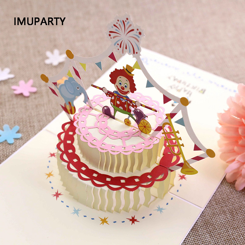 Cool 1Pc 3D Hollow Circus Invitation Card For Kids Birthday Party Funny Birthday Cards Online Elaedamsfinfo
