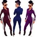 Элегантный Наряды Женщины Bodycon Комбинезоны 2016 Мода Дамы С Длинным Рукавом Спортивная Одежда Комбинезоны Молния Боди Комбинезоны macacao