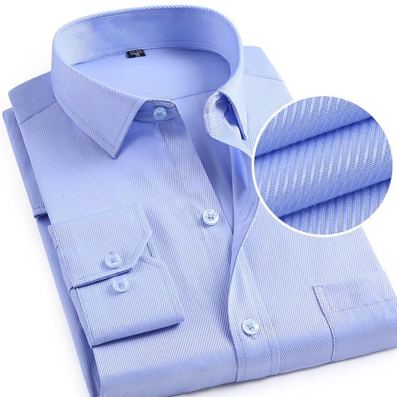 2019 Männer Feste Beiläufige Kleid Shirts Langarm Mann Feste Beiläufige Hemd Frühling Herbst Business Männlichen Hochzeit Party Shirts Dinge Bequem Machen FüR Kunden