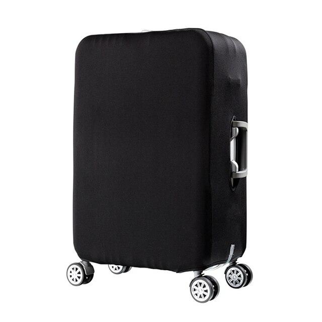 HMUNII карта мира, дизайнерский защитный чехол для багажа, Дорожный Чехол для чемодана, эластичные пылезащитные Чехлы для 18-32 дюймов, аксессуары для путешествий - Цвет: Black-Luggage cover