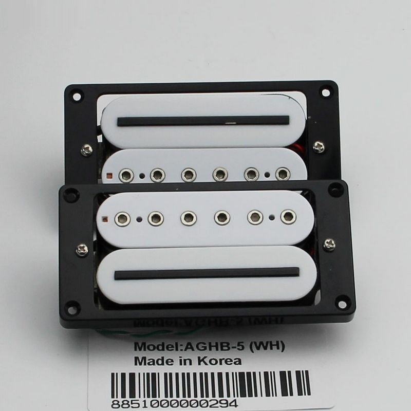 Inner Six Angle Hot Rail Five Line Pickup White Guitar Pickups bridge neck