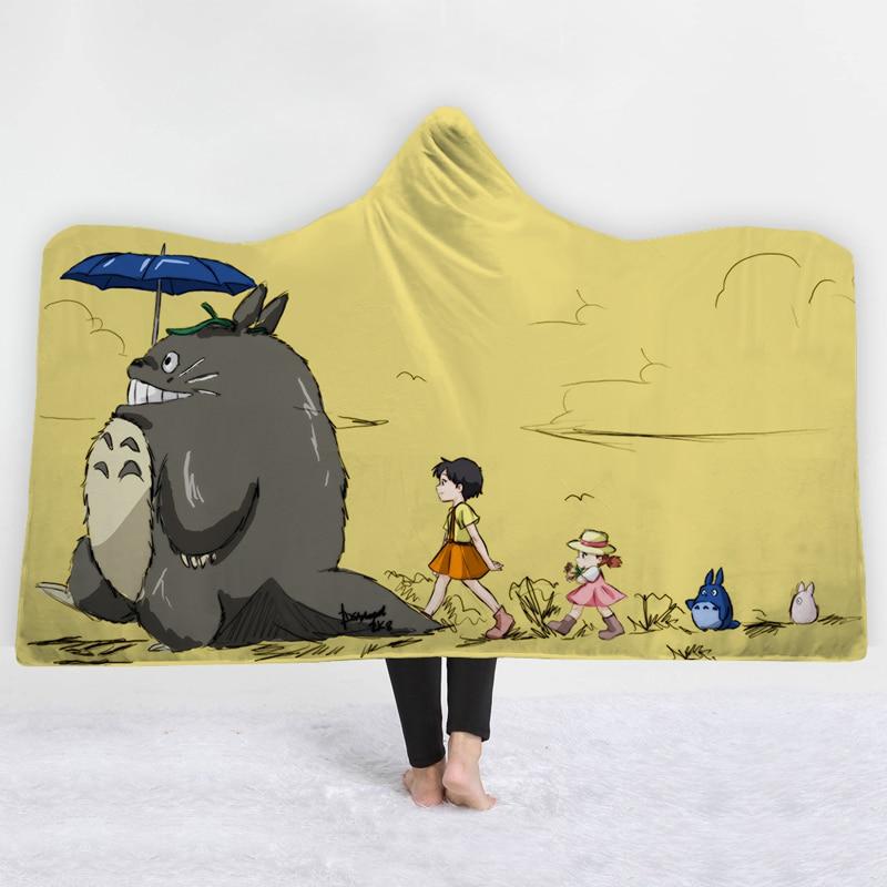 Totoro 3D Hooded Blanket