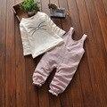 Historieta de la manera Ropa de Bebé Niño Establece otoño Recién Nacido Caliente Top + Pants 2 unids Ropa de Manga Larga Traje de Bebé Infantil conjunto