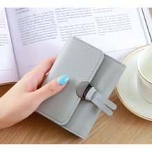 2019 New Fashion Womens Short Wallets Ladies Mini Card Holder Wallet Female Credit Coin Purse Brand Small Woman