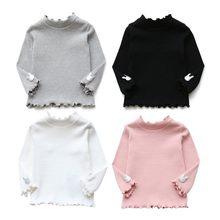 fd857b08c Camiseta niña Otoño Invierno ropa niños diseño suave algodón Camisetas  manga larga Camiseta para niñas Tops