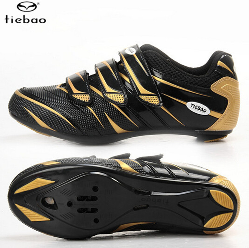ФОТО TIEBAO Carbon Nylon-fibreglass Road Sports Ciclismo Shoes Road Bike Cycle Soles Bicycle Riding Athletic Cycling Shoes