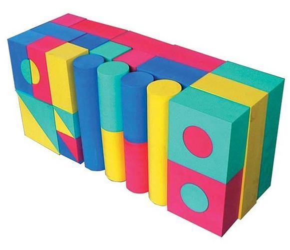 Geometric Shape Foam Building Blocks