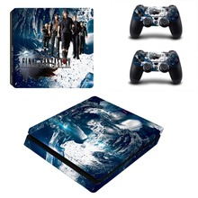 Final Fantasy Decal Skin For PS4 Slim Console Cover For Playstation 4 PS4 Slim Skin Stickers+ Controll