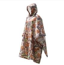 Multifunctional Raincoat Outdoor Travel Rain Poncho Rainwear Waterproof  Backpack Rain Cover Tent Awning Climbing Camping Hiking