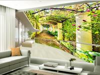 Home Decoration Door Flower Flowers Corridor 3d Murals Wallpaper For Living Room Custom 3d Photo Wallpaper