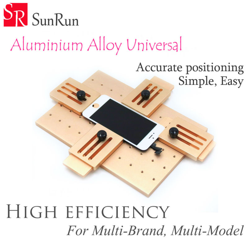 цены Aluminium alloy Universal phone LCD OCA Laminate Fixed mold Replace LCD UV Glue Mold Mould Glass Holder for iPhone Samsung
