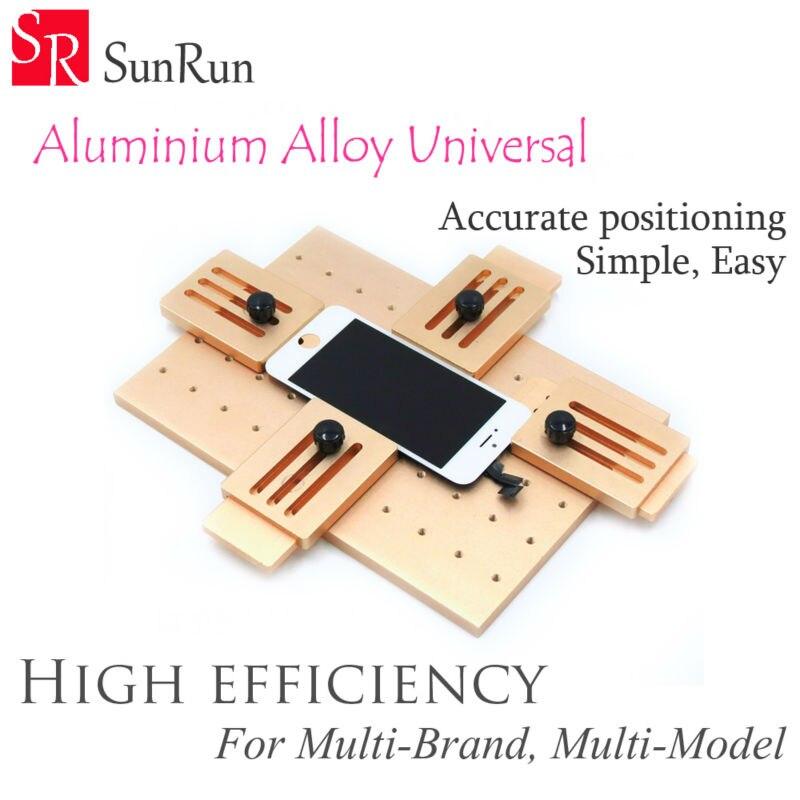 Aluminium legierung Universal telefon LCD OCA Laminat Feste form Ersetzen LCD UV Kleber Form-Form Glas Halter für iPhone Samsung