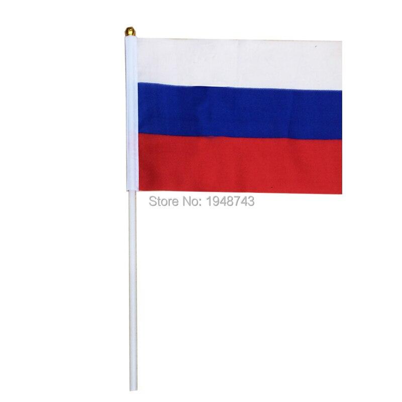2018 10st Små Rysslands flagga 14 * 21CM Ryska flaggan handens - Heminredning - Foto 3