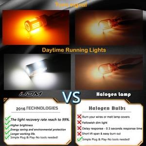Image 5 - iJDM CANbus No Hyper Flash 1157 LED P21/5W BAY15d White/Amber LED Bulbs For 13 17 Accord Sedan Daytime Running/Turn Signal Light