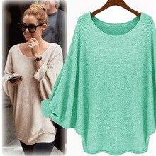 Женский свитер ярких цветов, вязаный пуловер с широкими рукавами «летучая мышь», свободный свитер, вязаные топы, одежда высокого качества