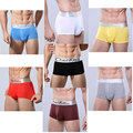 10 unids/lote hombres sexy calzoncillos ropa interior masculina Cuecas Boxeadores Cortos casuales sous vetement homme c086