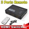 HDMI Истинной Матрицы 3/5 Порт HDMI Switcher Переключатель HDMI Splitter Hub Box для PS3 HDTV DVD Xbox 360 Беспроводные ИК-пульт дистанционного управления