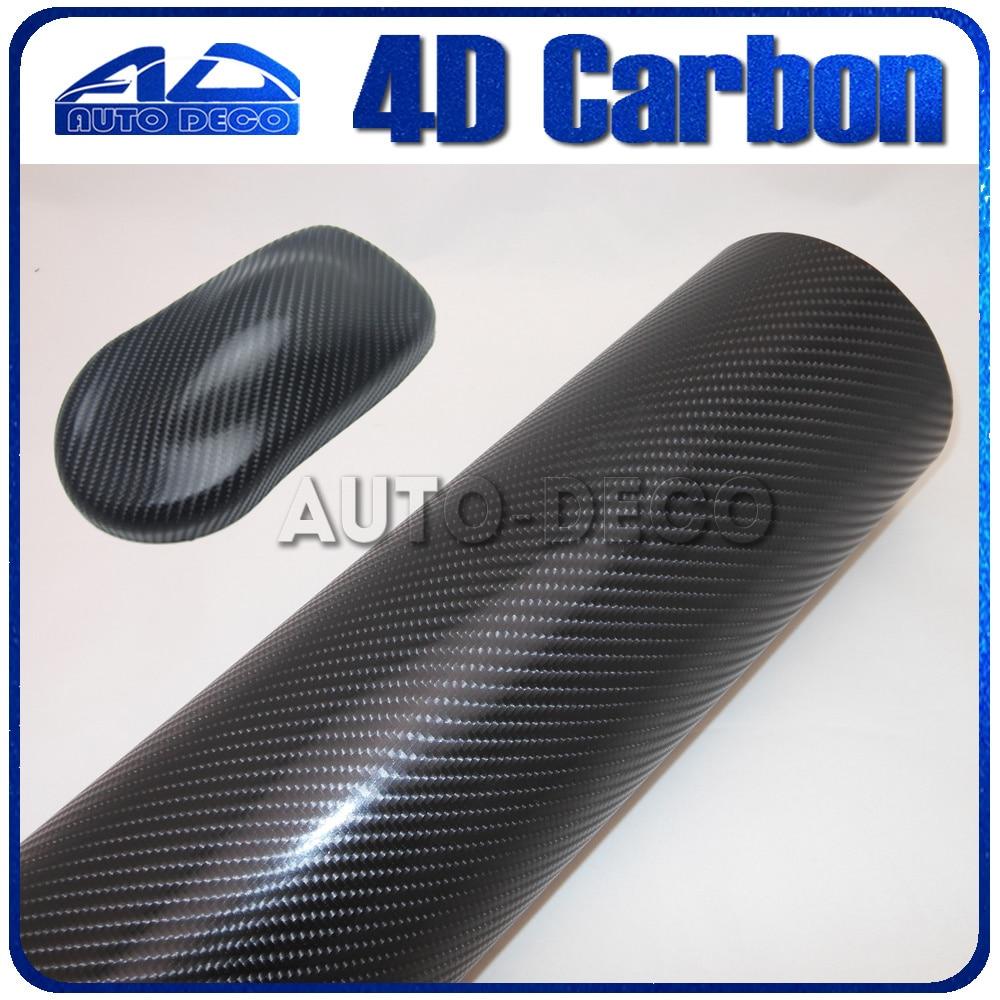 Hot selling 4d carbon fiber vinyl Black Car Wrap Film Sticker with Air Bubble Free FedEx Free Shipping Car Color Change 30m