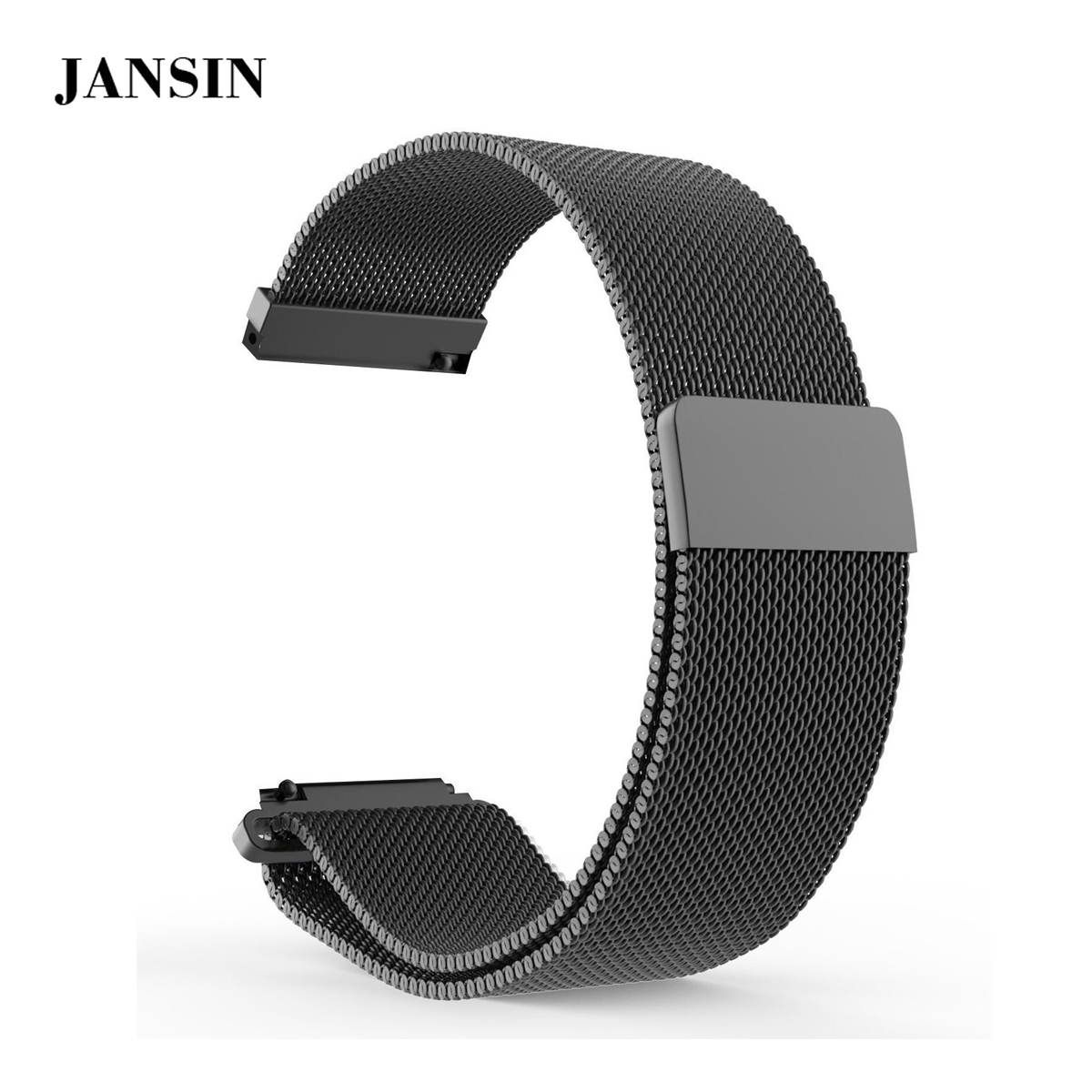 JANSIN 22mm Milanese Replacement Universal WatchBand Strap for Samsung Gear S3 /ASUS /Moto 360 / Huawei /LG /Pebble Time Steel