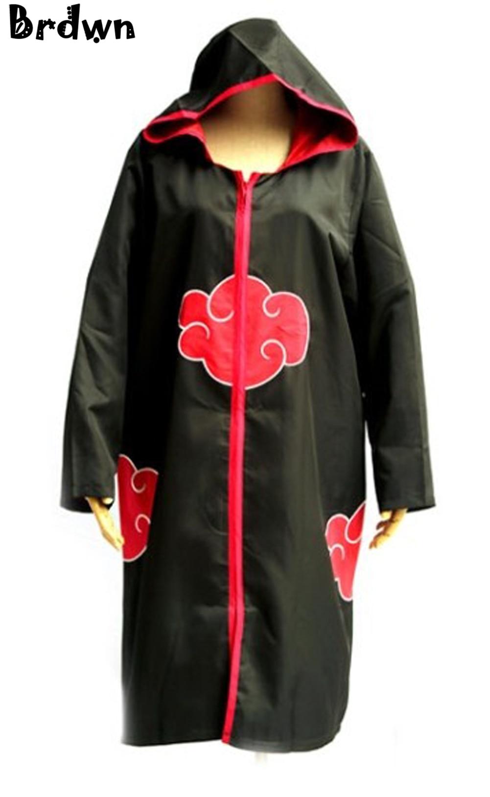 Akatsuki Uchiha Sasuke Cosplay Costume Robe Hooded Cloaks Uniform!【】