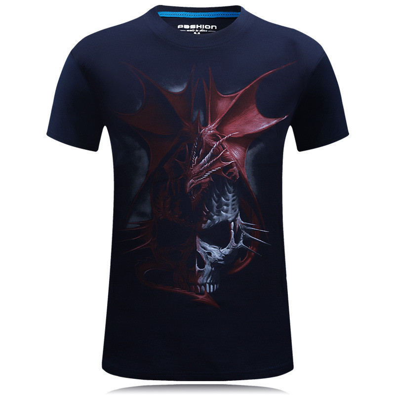 Brand Skull T shirt Blood Clothes Funny Clothing Hip-Hop Tees 3D Tops T-shirt Men Short Sleeve Male Fashion Homme dropshipping 1