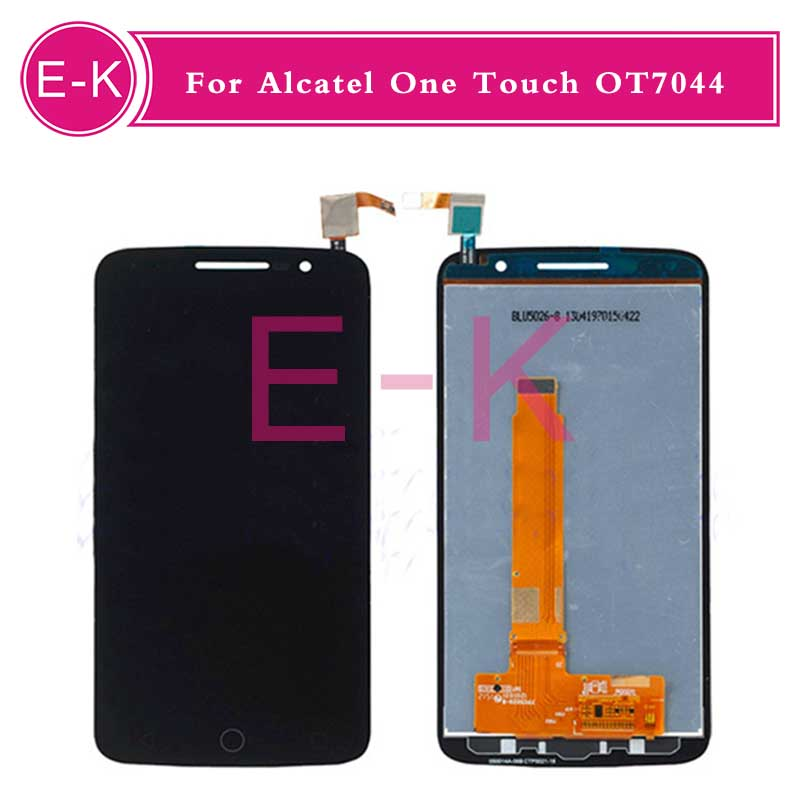 DHL 10pcs High quality For Alcatel One Touch Pop 2 Premium 7044 OT704 LCD Display + Touch Screen Digitizer Assembly Replacement