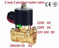 10pcs/lot Fedex Free Shipping G 1 Inch Electric Solenoid Valve Water Air Gas Oil,12 volt 12v 24v 110v 220v dc ac