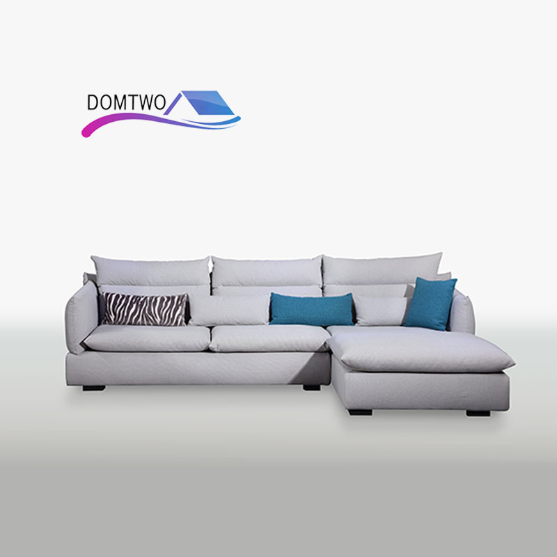 Furniture Living Room Down Corner Custom Made Modern European Style Sofa Good Quality