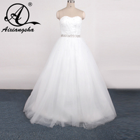 Vestidos De Novias Elegant Linning US Size 2 28 White/Ivory Beading Sequined Strapless Satin A Line Wedding Dress Bridal Gowns