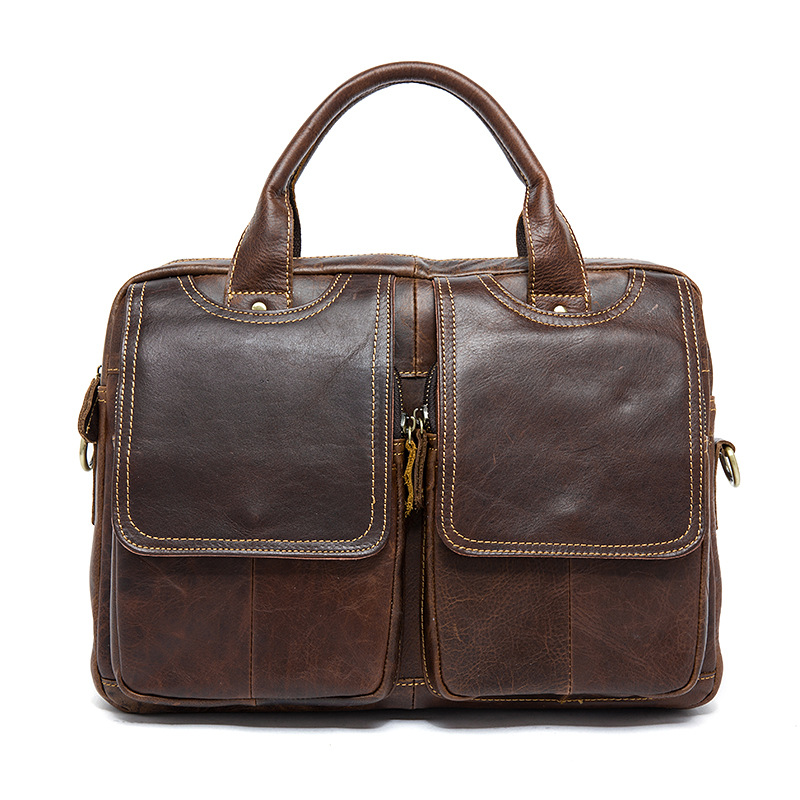 ФОТО Hot sale man bag genuine leather business men handbag messenger bag high-grade cow leather bag vintage style
