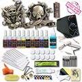 Alta Calidad Kits10 Colores Tintas de Tatuaje 2 Ametralladoras Tatuaje fuente de Alimentación Del Tatuaje Superior Suministro de Socorro