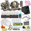 High Quality Tattoo Kits10 Colors Inks Set  2 Relief Tattoo Machine Guns Top  Power Supply Tattoo Supply