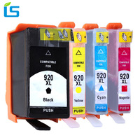 4Pcs Set 920XL Printer Ink Cartridge Replacement For HP 920 XL Compatible For HP Officejet 6000