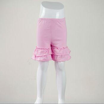 solid color cotton ruffle girls shorts,ruffle cotton short