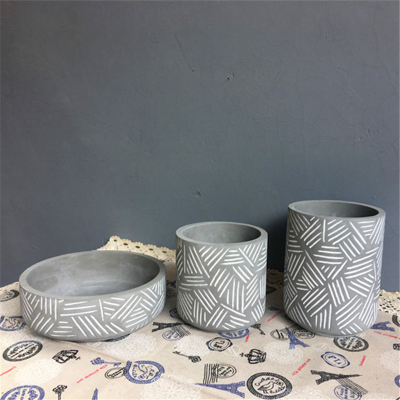 Silicone flowerpot mould stripe design cement pot molds Silicone flowerpot mould stripe design cement pot molds
