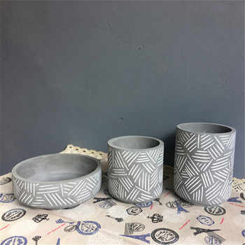 Silicone flowerpot mould stripe design cement pot molds - DISCOUNT ITEM  20% OFF All Category