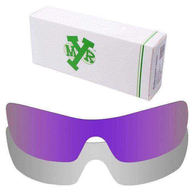 2 Шт. MRY Batwolf ПОЛЯРИЗОВАННЫЕ Сменные Линзы для Oakley Солнцезащитные Очки Серебро Титан & Plasma Фиолетовый