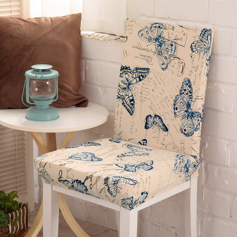 Attractive New Floral Print Butterfly Chair Cover Home Dining Chair Covers  Multifunctional Spandex Elastic Cloth Universal Stretch In Chair Cover From  Home U0026 Garden On ...