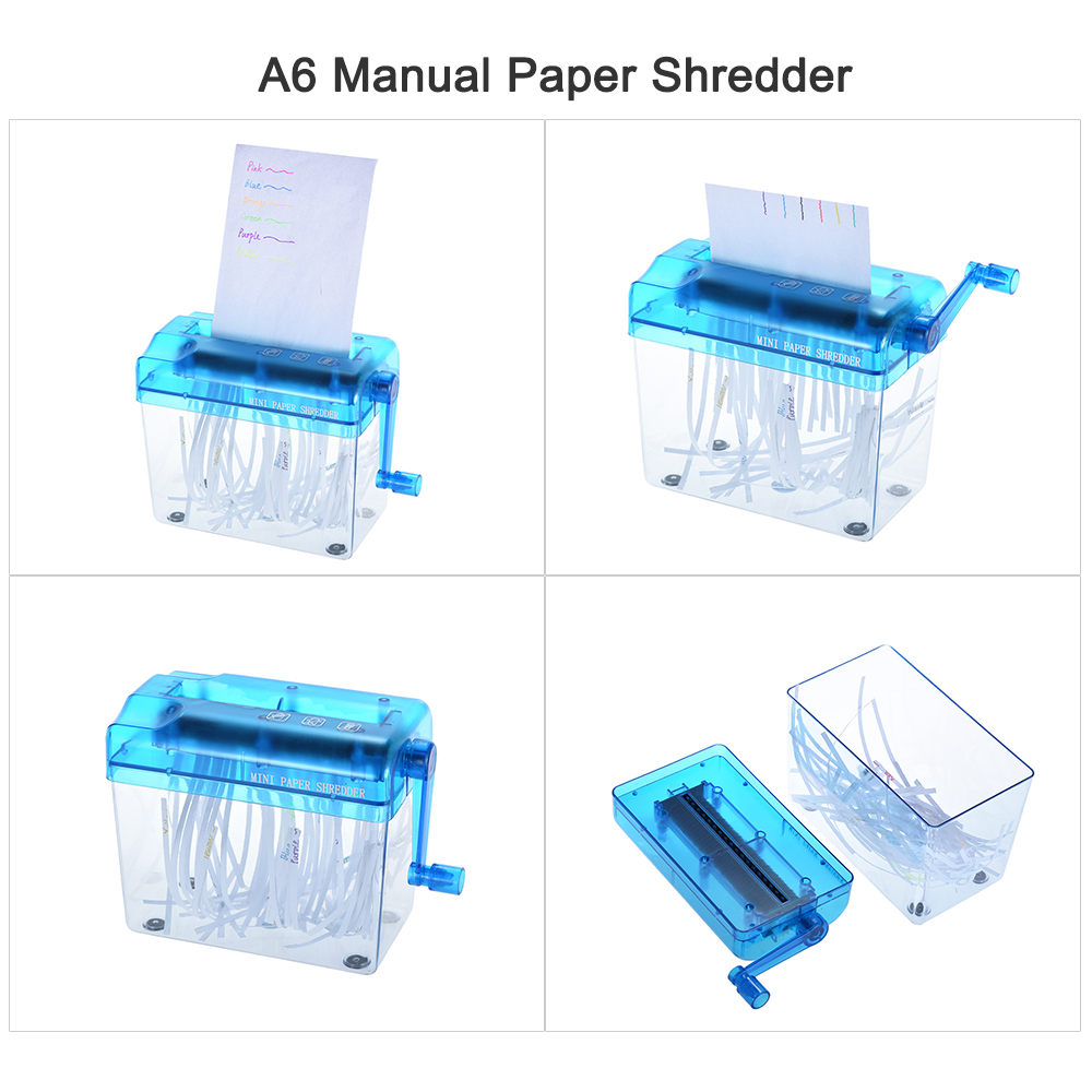 Popular Brand Mini Desktop Manual Paper Hand Shredder Cutting For Office Home A6 A4 Paper Paper File Strip Suitable For Men And Women Of All Ages In All Seasons Scissors